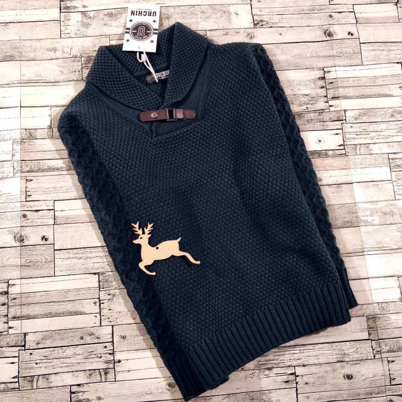 Теплый стильный свитер на мальчика