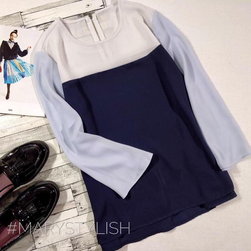 Шифоновая блузка трех цветов