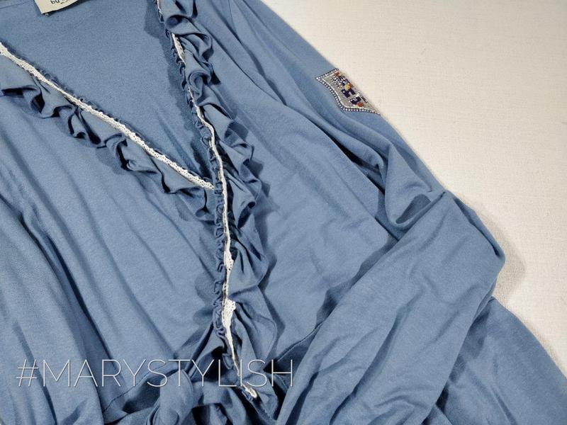 Модное платье с рюшами на запах, завязывается сзади пояс есть - Фото 2