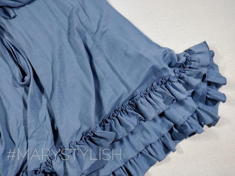 Модное платье с рюшами на запах, завязывается сзади пояс есть - Фото 5