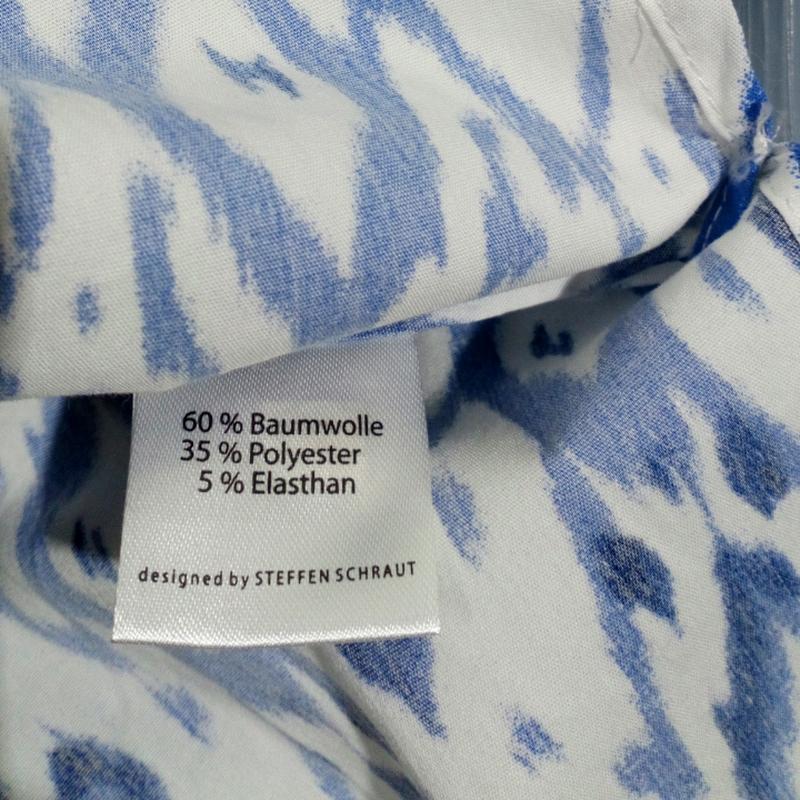 Синяя блузка с открытыми плечами - Фото 3