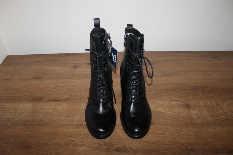 Кожаные полусапоги на устойчивом каблуке caprice, 37.5 размер - Фото 2