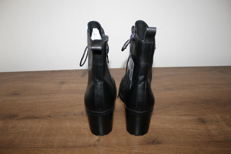 Кожаные полусапоги на устойчивом каблуке caprice, 37.5 размер - Фото 3