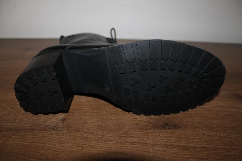 Кожаные полусапоги на устойчивом каблуке caprice, 37.5 размер - Фото 4