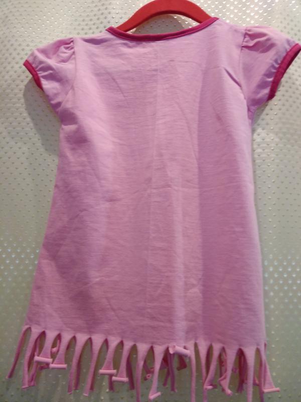 Розовая футболка для девочки 6 лет - Фото 2