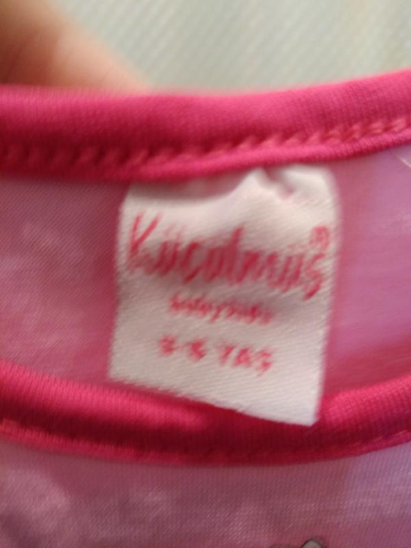 Розовая футболка для девочки 6 лет - Фото 3