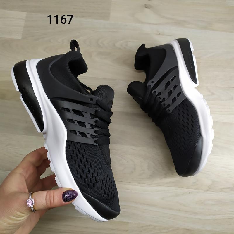 Подростковые кроссовки текстильные, унисекс, черные в стиле ni... - Фото 2