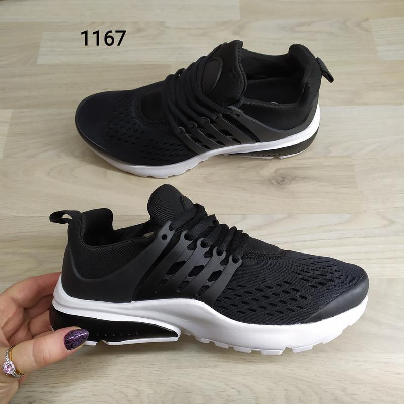 Подростковые кроссовки текстильные, унисекс, черные в стиле ni... - Фото 3