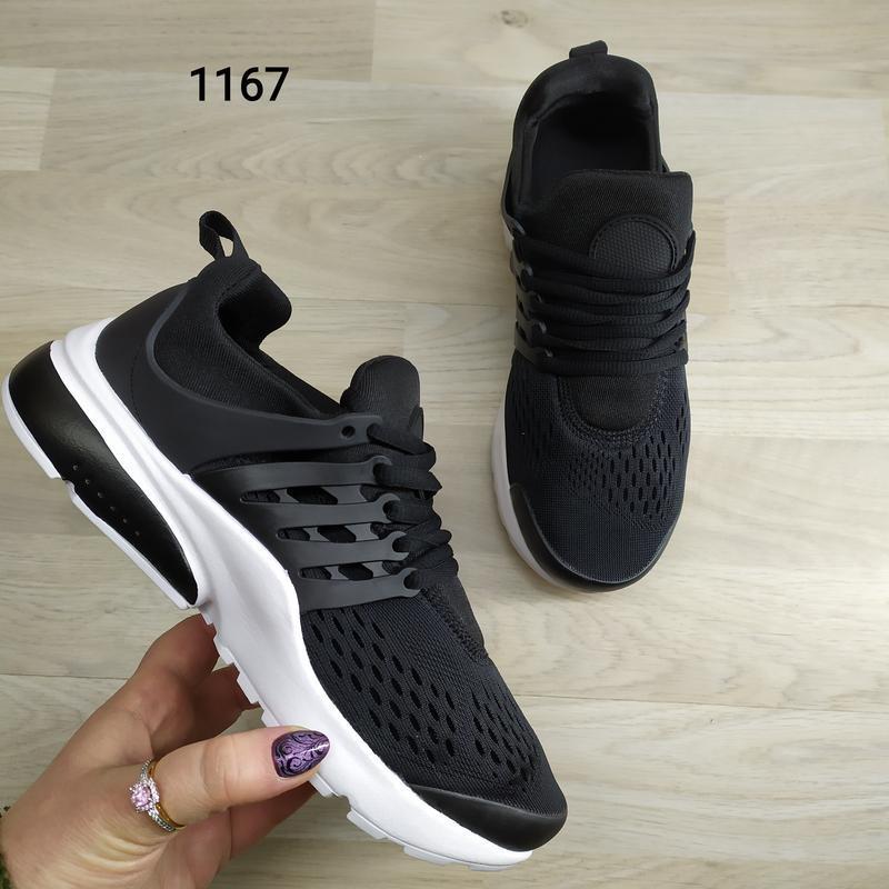 Подростковые кроссовки текстильные, унисекс, черные в стиле ni... - Фото 4