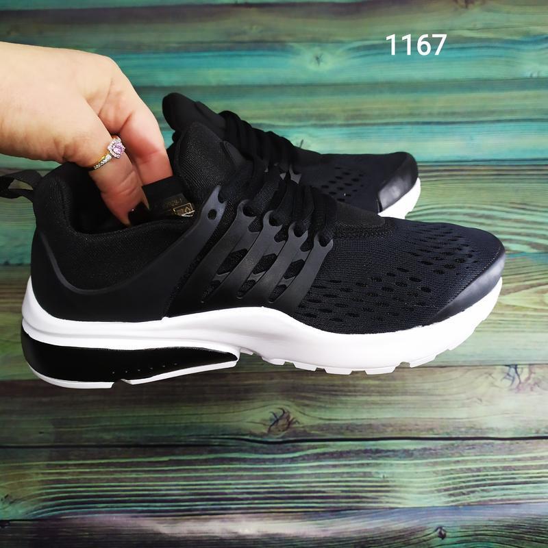 Подростковые кроссовки текстильные, унисекс, черные в стиле ni... - Фото 5