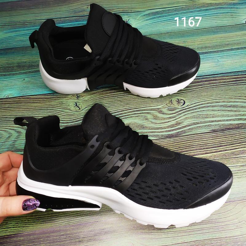 Подростковые кроссовки текстильные, унисекс, черные в стиле ni... - Фото 6