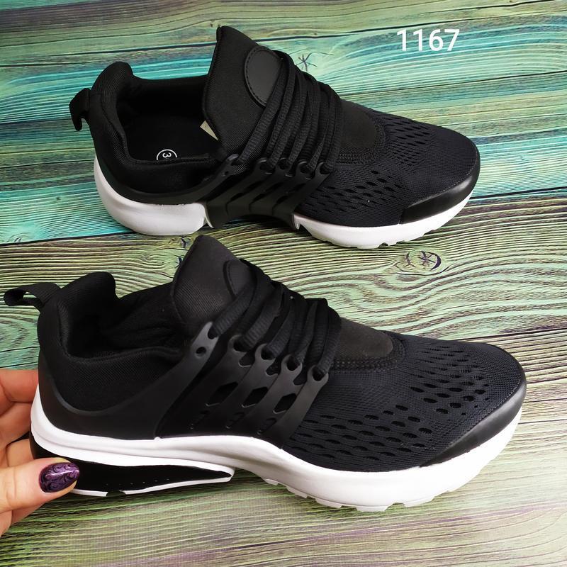 Подростковые кроссовки текстильные, унисекс, черные в стиле ni... - Фото 7