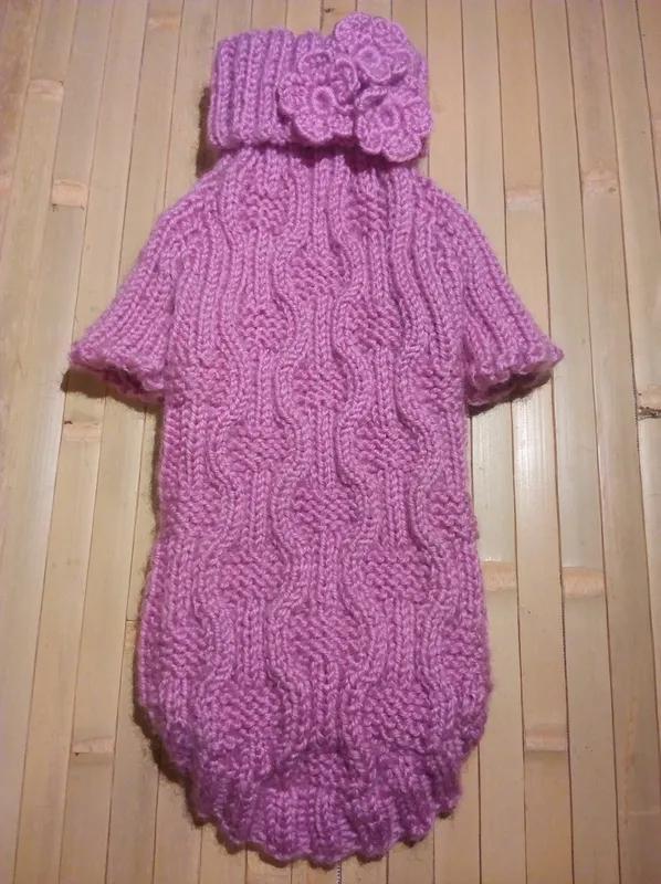 Одежда для собак, котов, свитер вязаный