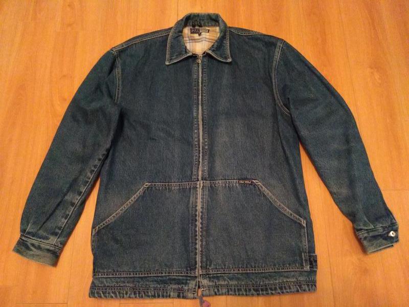 Мужская утепленная джинсовая куртка