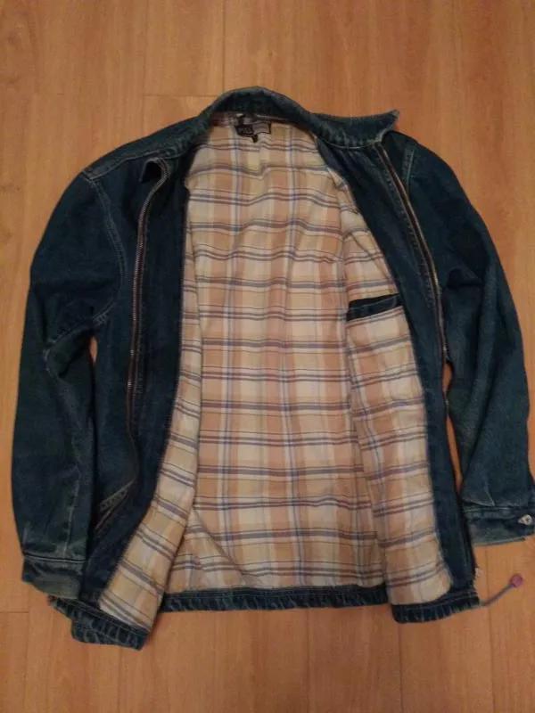 Мужская утепленная джинсовая куртка - Фото 3