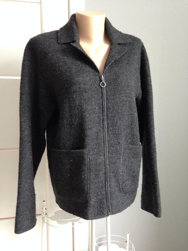 Теплющий пиджак кофта шерстяная