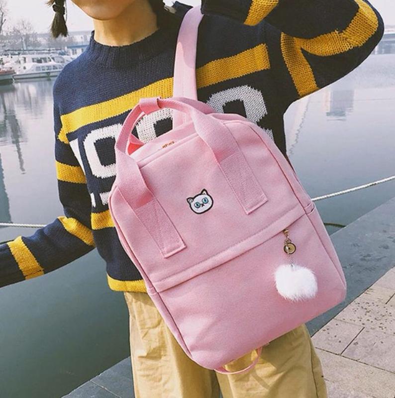 Рюкзак молодёжный тканевый - Фото 2