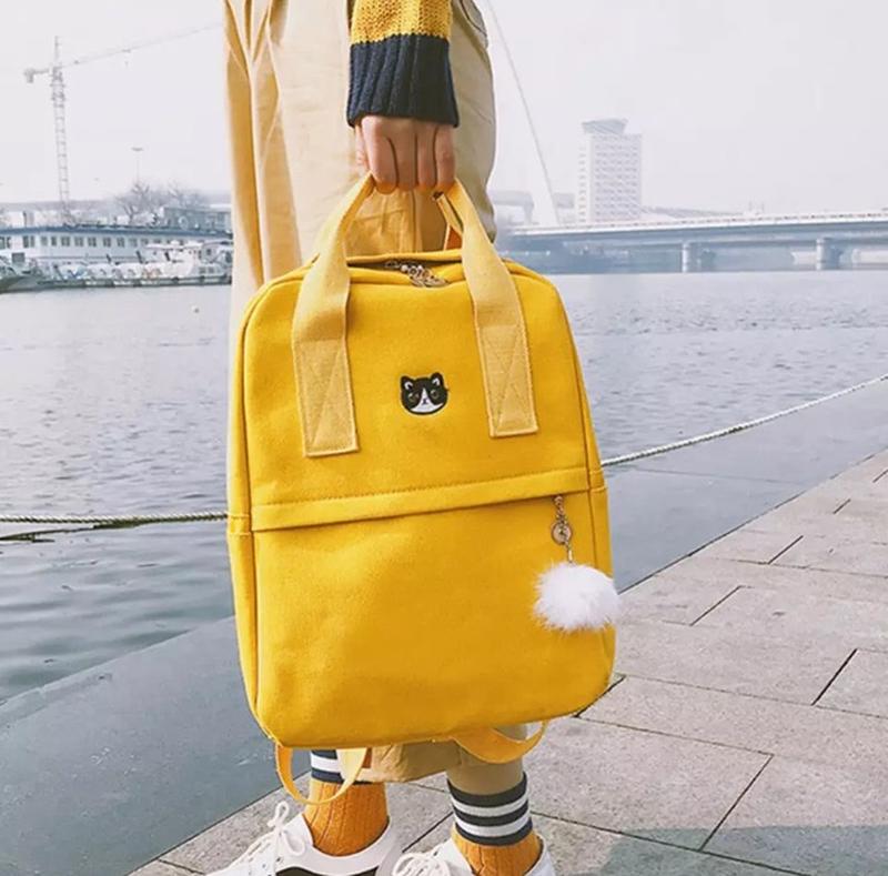 Яркий текстильный молодёжный тканевый рюкзак 🎒 - Фото 3