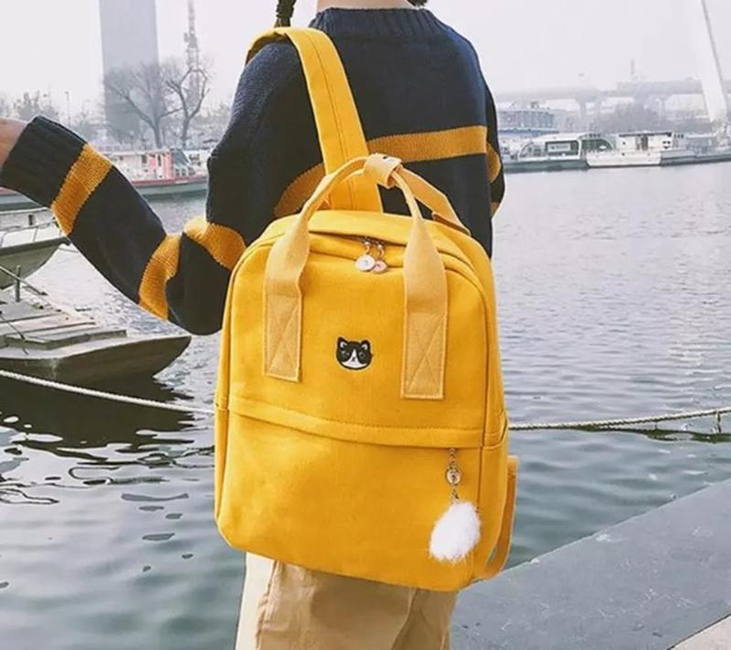 Яркий текстильный молодёжный тканевый рюкзак 🎒 - Фото 4