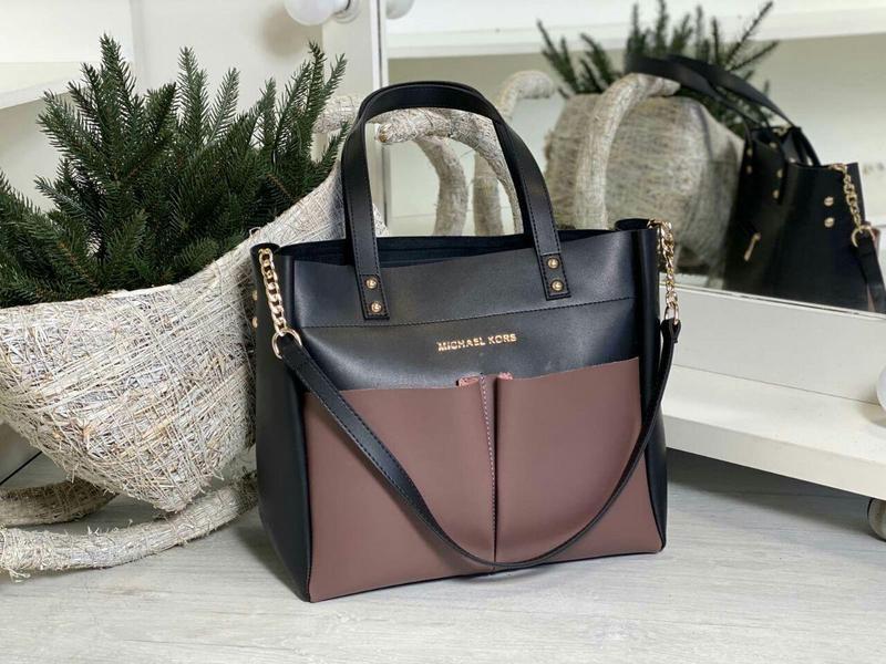 Zara шикарная кожаная женская сумка зара в черном цвете 😍