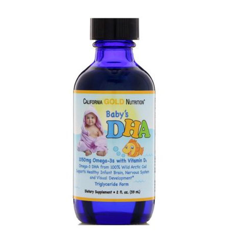 Омега-3 для детей, ДГК 59мл, с витамином D3 California Gold Nu... - Фото 3