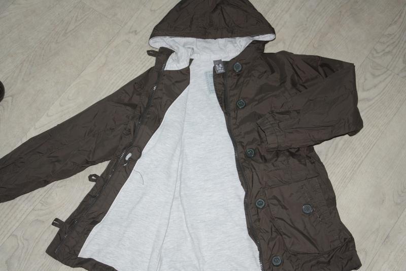 Курточка-ветровка длинная ф.zara kids р-116/122,для ребенка 5/... - Фото 2