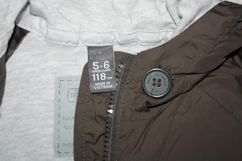 Курточка-ветровка длинная ф.zara kids р-116/122,для ребенка 5/... - Фото 6