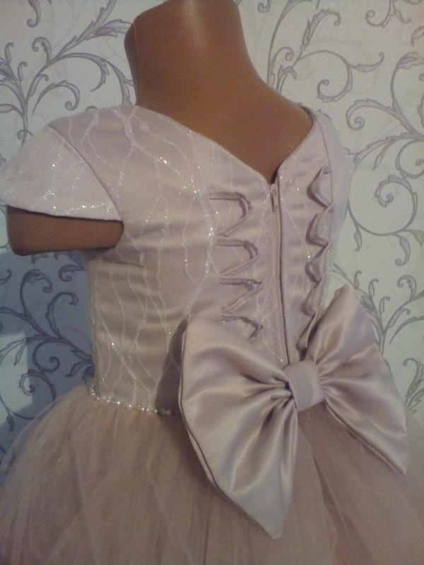 Детское платье бант