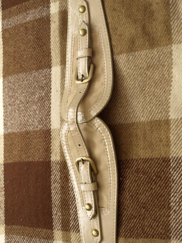 Ремень портупея нюдового цвета под кардиганы и пальто минимум ... - Фото 2