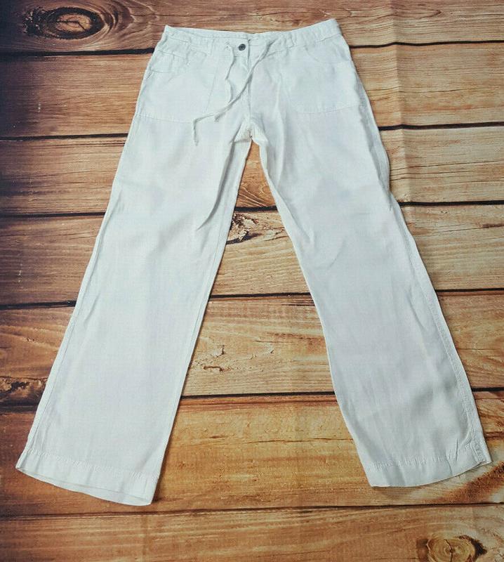 Льняные штаны denim&co - Фото 2