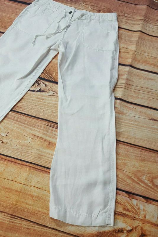 Льняные штаны denim&co - Фото 4
