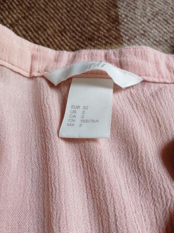 Нюдовая блузочка из вискозы h&m - Фото 3