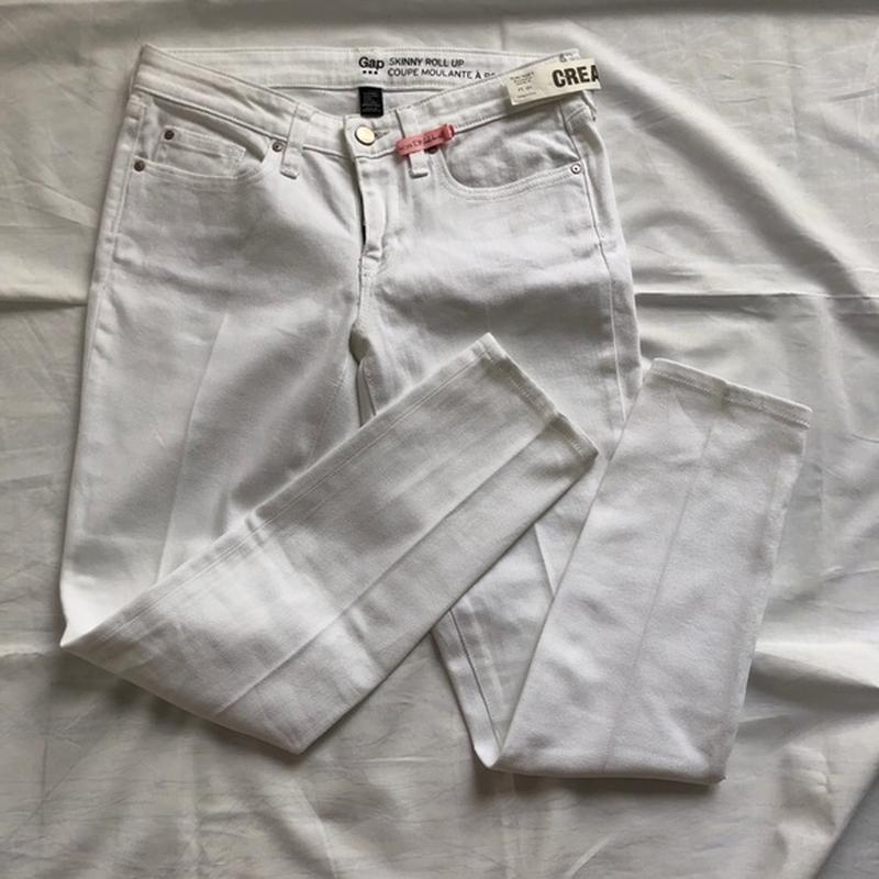 Белые плотные скини gap - Фото 3