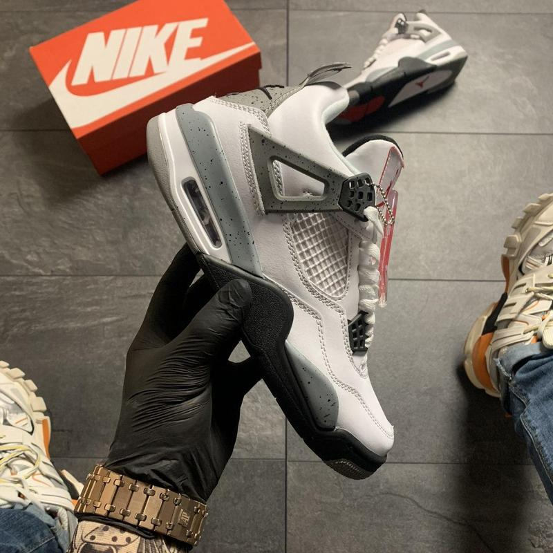 Nike air jordan 4 retro grey white . - Фото 5