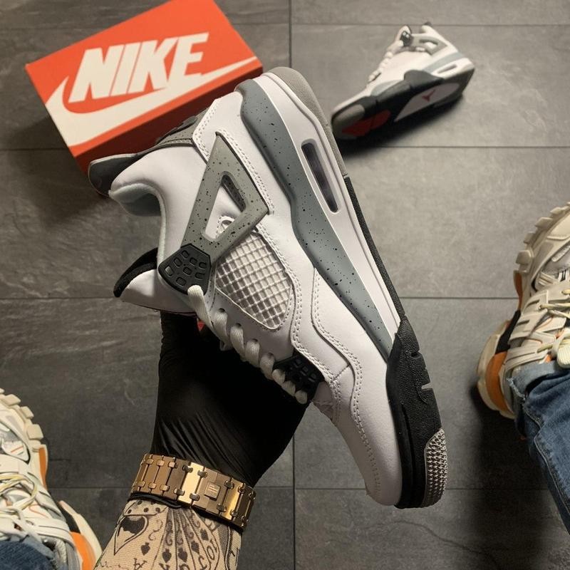 Nike air jordan 4 retro grey white . - Фото 7