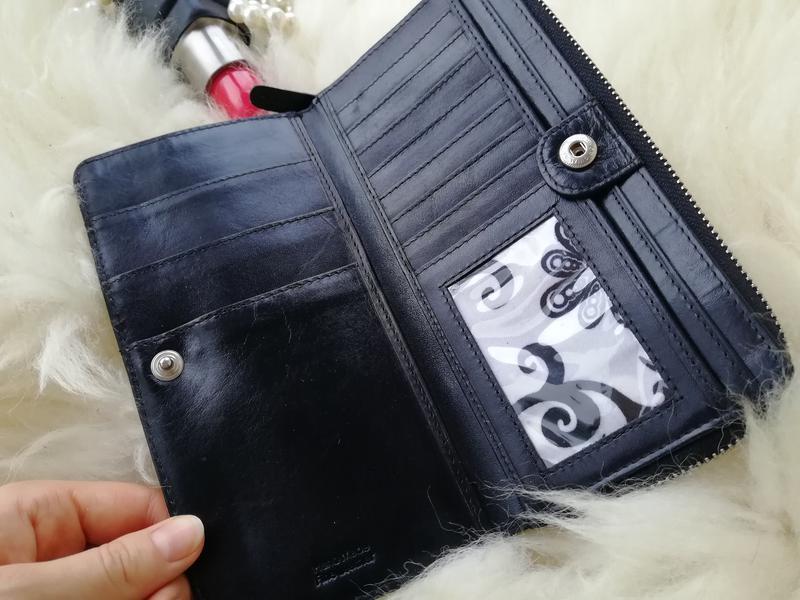 Добротный дорогущий кожаный кошелек , натуральная кожа rowallan - Фото 3