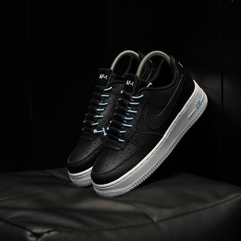 Nike air force 1 low black white - Фото 2
