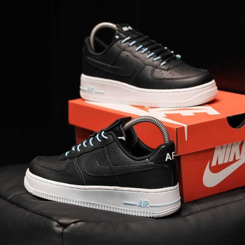 Nike air force 1 low black white - Фото 3