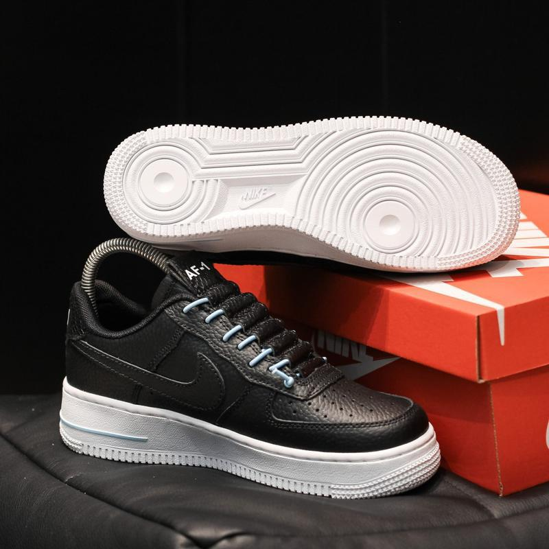 Nike air force 1 low black white - Фото 5