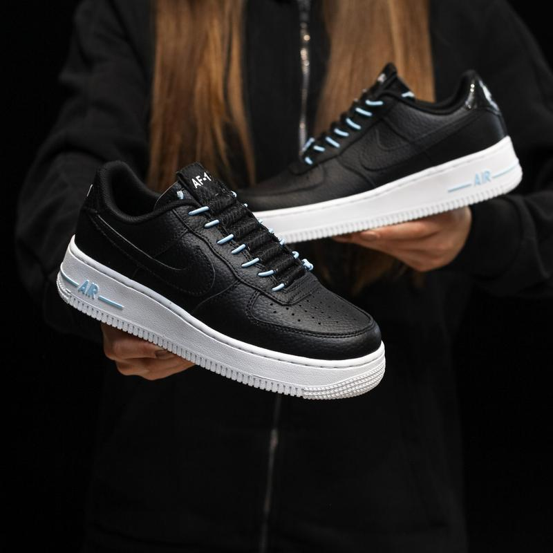 Nike air force 1 low black white - Фото 7