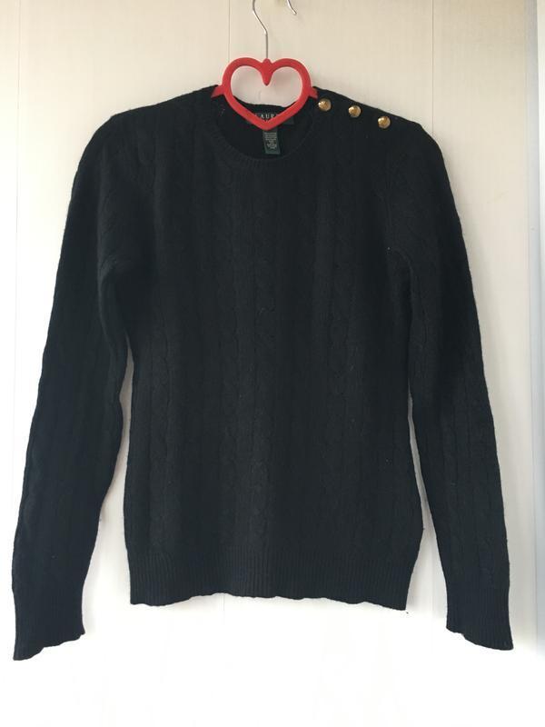 Стильный брендовый свитер джемпер косами оригинал ralph lauren
