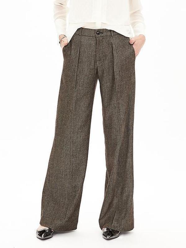 Теплые шерстяные классические штаны брюки, натуральная шерсть,...