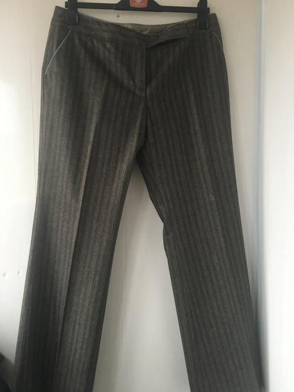 Теплые шерстяные классические штаны брюки, натуральная шерсть,... - Фото 2