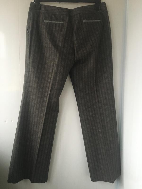 Теплые шерстяные классические штаны брюки, натуральная шерсть,... - Фото 3