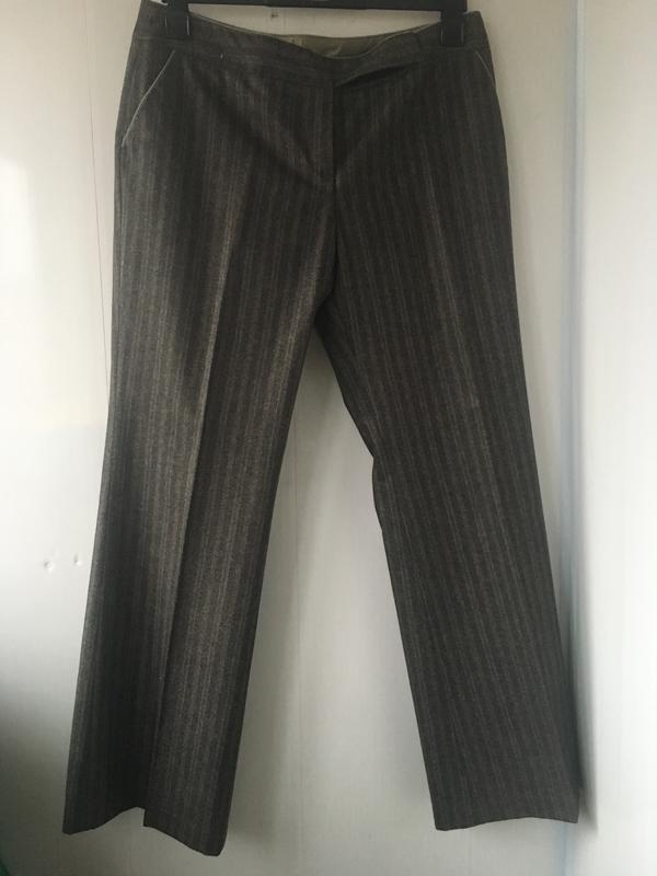 Теплые шерстяные классические штаны брюки, натуральная шерсть,... - Фото 5