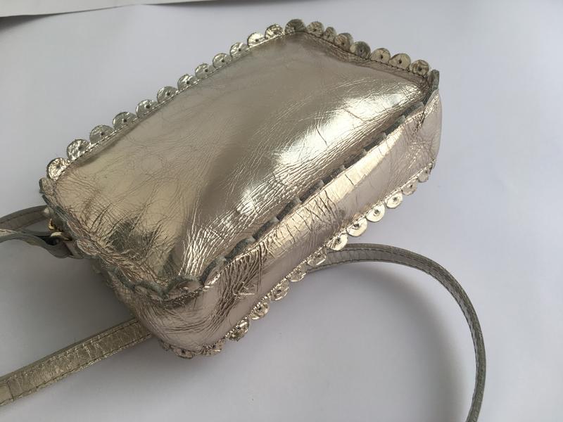 Компактная сумка кожаная сумочка кросс боди, натуральная кожа,... - Фото 4