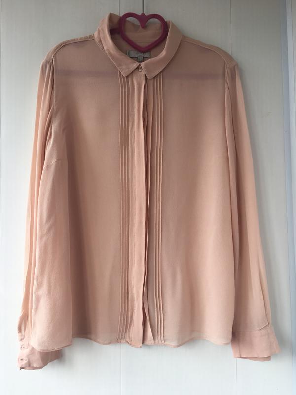 Благородная шелковая блузка блуза рубаха, натуральный шелк, цв...