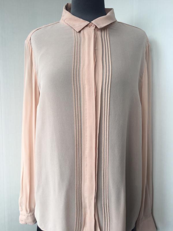 Благородная шелковая блузка блуза рубаха, натуральный шелк, цв... - Фото 2