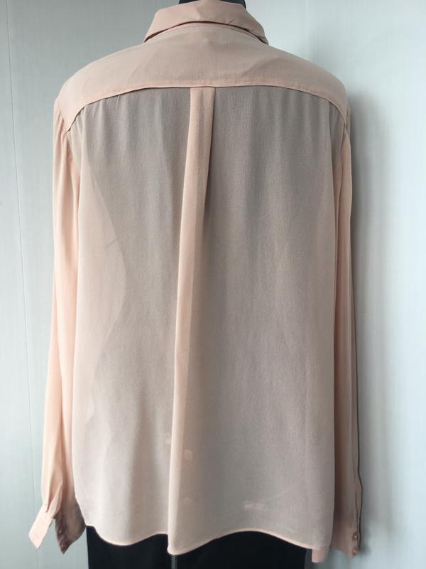Благородная шелковая блузка блуза рубаха, натуральный шелк, цв... - Фото 3