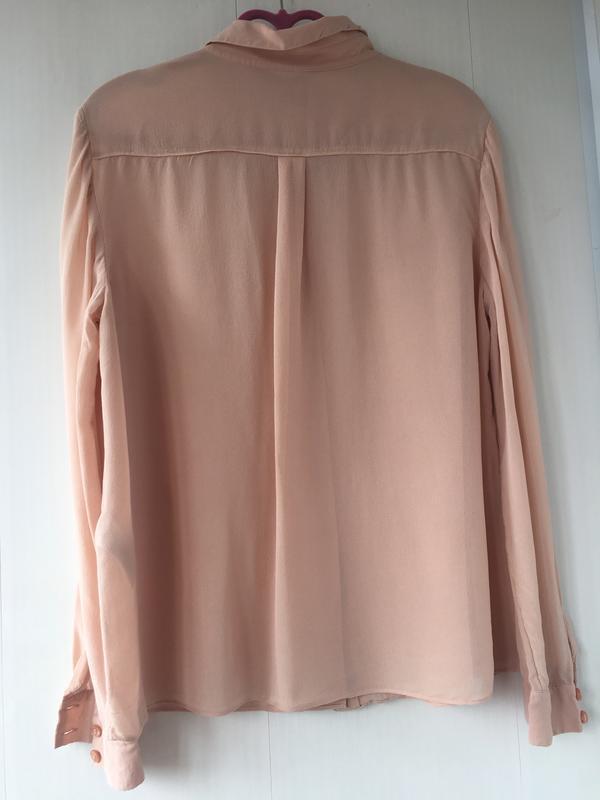 Благородная шелковая блузка блуза рубаха, натуральный шелк, цв... - Фото 5